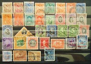 EQUATEUR Lot de 34 timbres anciens oblitérés