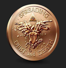 STUNNING! 1 Gram Silver + 1 Illuminati All Seeing Eye War Eagle Warbird