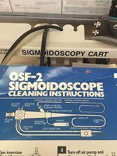 OLYMPUS OSF-2 BORESCOPE ENDOSCOPE SIGMOIDOSCOPE ENDOSCOPY WITH CASE AND EXTRAS