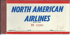 AB-015 - North American Airlines, 1950's to 1960's Ticket Book Used Vintage