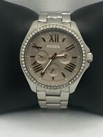 Fossil AM4628 Women's Stainless Steel Analog Taupe Dial Quartz Wrist Watch LP380