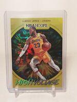 2019-20 Panini NBA Hoops LeBron James High Voltage Lakers SP