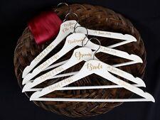 Personalised Wedding Dress Hangers, Bridal / Bridesmaid Gift / White Groom Suit