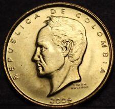 Colombia 20 Pesos, 2004 Gem Unc~Simon Bolivar~Brass~1st Year~Free Shipping