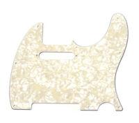 Genuine Fender 4-ply AGED WHITE PEARLOID Standard Tele/Telecaster Pickguard