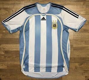 ARGENTINA NATIONAL 2006 2007 HOME FOOTBALL JERSEY CAMISETA SOCCER SHIRT