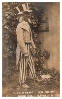 Rare Real Photo Uncle Sam Born 1819 Wm. Smith Catskills NY 1908 RP RPPC B573