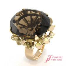 Ring *Rauchquarz* Ovalschliff - 14K/585 Gelbgold - 10,4 g - Gr. 53 änderbar
