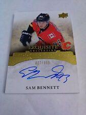 Sam Bennett 2015-16 Exquisite Collection Rookie Signatures Auto /199 Flames