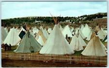 Pendleton Round Up, Or Indian Village Tepees Native American Postcard