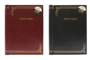 8 x 6 inch Self Adhesive Photo Album 40 Pages/80 Pages Red or Black Bookbound