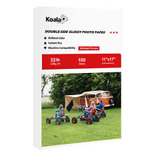 Koala 100 Sheet 11x17 Premium Double Sided Glossy Inkjet Print Photo Paper 32lb