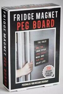FRIDGE MAGNET PEG BOARD Message Magnetic CHANGEABLE 350 LETTERS