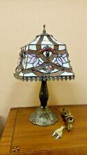 Lampada tavolo in ottone brunito diametro paralume 30 cm  stile tiffany