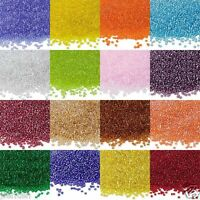 New 200/500/1000Pcs 7Colors Czech Glass Seed Spacer Beads Jewelry Making 2/4mm