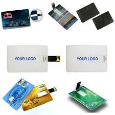 Lot 50 16GB Credit Card USB Memory $7.30 each / Business Card Custom Logo Double