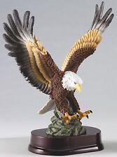 """Beautiful 12"""" Hand-Painted Resin Eagle Eagle Statue American Eagle"""