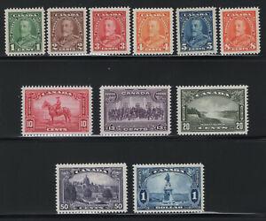 1935 Canada. UNI#217-227. SC#217-227. Mint, Never Hinged, VF.