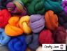 Needle/Wet Felting Merino/Lincoln Wool, Roving 20-100 g Ideal for 3D, Choose