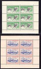 NEW ZEALAND SEMI-POSTAL #B52a-B53a SOUVENIR SHEETS SET/2, 1957, MNH