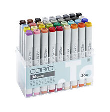 Copic Classic Marker - 36 Colours Set  -  Refillable With Copic Various Inks