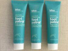 Bliss Aloe Leaf + Peppermint Foot Patrol Exfoliating softening Cream 3-PK Sealed