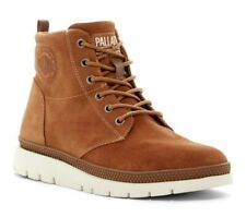 Palladium Pallasider Men's Mid Suede White Sole Casual Boot Sneaker in Ocre 11.5