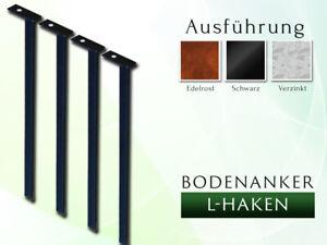 Bodenanker L- Haken 2 Set / 4 Set für Rosenbogen 1,20 - 2,00