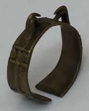 Antique Nagaland Naga Cast Brass or Bronze Hornbill Bird Cuff Bracelet EXC Cond