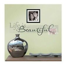 "Main Street Wall Creations ""Life Is Beautiful"" Wall Sticker, Decal"