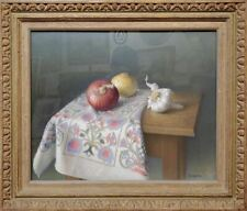 Onions and Garlic Still Life Pastel Painting by Werner Groshans