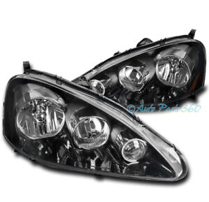 FOR 05-06 ACURA RSX DC5 BASE TYPE-S BLACK REPLACEMENT HEADLIGHTS HEADLAMPS LAMPS