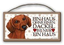 EIN HAUS OHNE EINEN DACKEL - HOLZSCHILD MDF 25x12,5 cm 16 HUNDESCHILD