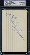 CHARLIE GRIMM SIGNED PSA/DNA 3X5 INDEX CARD CERTIFIED AUTOGRAPH AUTHENTIC