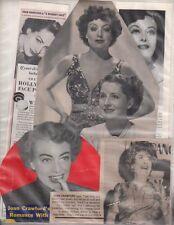 Joan Crawford Clipping Magazine photo lot orig F12756