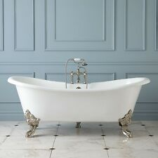 'GLAISDALE' DELUXE LARGE ROLL TOP CAST IRON FREESTANDING BATH 1800 With Tapholes