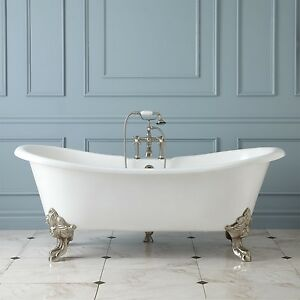 'GLAISDALE' DELUXE LARGE ROLL TOP CAST IRON FREESTANDING BATH 1829mm No Tapholes