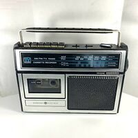 Vintage General Electric TV Sound AM/FM Radio Cassette Player Recorder 3-5224A