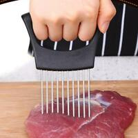 Kitchen Stainless Steel Onion Holder Slicer Vegetable Tools Tomato Cutter DB