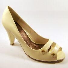 Ladies Womens Cream Shoes Peep-toe  High Heels Size EU 38 UK 5 Kaleidoscope