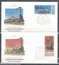 1978**SERIE DE 5.FDCs 1°JOUR!!**LOCOMOTIVES.HISTORIC RUSSE/RUSSIA//Y/T.N°4473/7