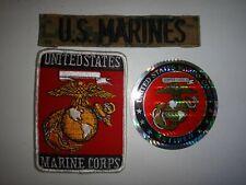 3 USMC Items: U.S. MARINES Tape + US MARINE Patch + USMC RETIRED Sticker Decal