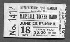 1977 Marshall Tucker Band concert ticket stub Columbia MD Searchin For Rainbow
