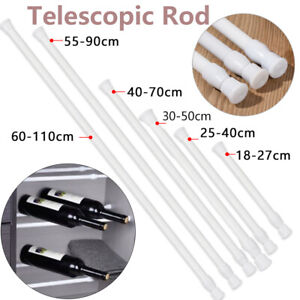 Spring Load Extendable Telescopic Net Voile Tension Curtain Rail Pole Net Rods