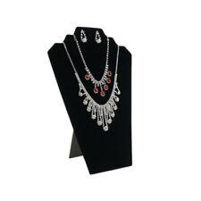 6 Pcs Necklace Jewelry Display Organizer Stand Black Velvet Cards Prevent Damage