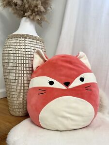 """Squishmallow FiFi the Fox LARGE 18"""" Plush Pillow CORAL PINK KellyToy READ!"""