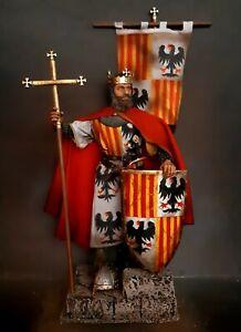 "12"" CUSTOM JAMES II, MEDIEVAL KING OF ARAGON, CRUSADER KNIGHT 1/6 FIGURE IGNITE"