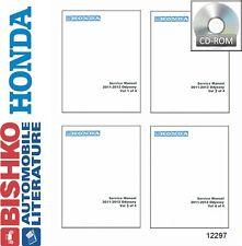 2011 2012 Honda Odyssey Shop Service Repair Manual CD