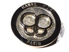 Bijou alliage argenté broche créateur Hanae Mori Paris grise brooch