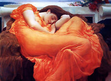 ART PRINT POSTER - Flaming June by Frederic Lord Leighton 11x14